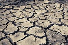 sprucken bakgrund torkar jord Arkivfoton