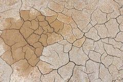sprucken bakgrund torkar jord sprucken mudmodell Jord i spricka Fotografering för Bildbyråer