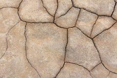 sprucken bakgrund torkar jord sprucken mudmodell Jord i spricka Royaltyfri Fotografi
