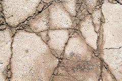 Sprucken betongvägg som bakgrund textur Royaltyfri Bild
