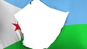 Sprucken Djibouti flagga vektor illustrationer