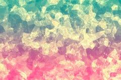 Sprucken färgrik textur Mångfärgad yttersida med skrapor abstrakt bakgrund Mosaisk tapet Fotografering för Bildbyråer