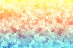 Sprucken färgrik textur Mångfärgad yttersida med skrapor abstrakt bakgrund Mosaisk tapet Arkivfoto
