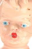 sprucken gammal dockaframsida Royaltyfri Foto