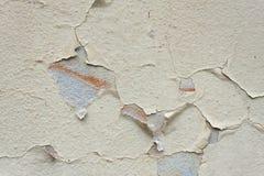 Sprucken gammal textur för väggdetaljbakgrund för text eller bild Abstrakt bakgrund, gammal sprucken murbrukvägg Royaltyfri Fotografi