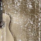 sprucken gitarr för abstrakt bakgrund Arkivbild