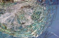 Sprucken glass bruten vindrutabil royaltyfri bild