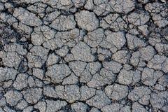 Sprucken grov asfaltbeläggningyttersida Royaltyfri Foto