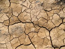 sprucken jord Royaltyfri Fotografi