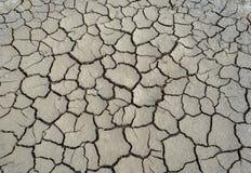 sprucken jordning för lera Arkivfoto