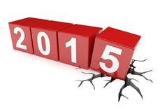 Sprucken jordning under 2015 kuber Arkivbild