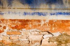 Sprucken konkret tappningväggbakgrund, gammal vägg Royaltyfri Bild