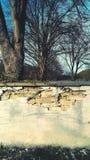 Sprucken kyrkogårdvägg Royaltyfri Fotografi