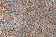 Sprucken målad textur Gammal skalad målarfärg på väggbakgrund royaltyfri fotografi
