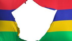 Sprucken Mauritius flagga royaltyfri illustrationer