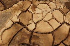 sprucken mud Arkivfoton