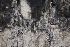 Sprucken murbrukbakgrund Arkivbilder