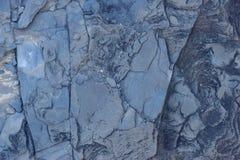 Sprucken och sliten för abstrakt begrepptextur för blå sten bakgrund Fotografering för Bildbyråer