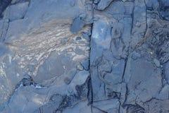 Sprucken och sliten för abstrakt begrepptextur för blå sten bakgrund Arkivbild