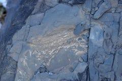 Sprucken och sliten för abstrakt begrepptextur för blå sten bakgrund Royaltyfria Foton