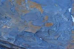 Sprucken och sliten för abstrakt begrepptextur för blå sten bakgrund Arkivfoton