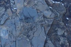 Sprucken och sliten för abstrakt begrepptextur för blå sten bakgrund Royaltyfria Bilder