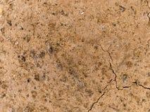 Sprucken och torr jord arkivbild