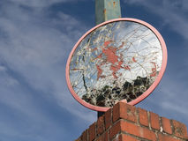 sprucken spegel Arkivfoton