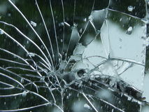 sprucken spegel Royaltyfri Foto