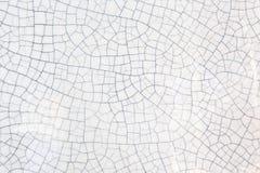 Sprucken textur av gammal keramisk krukmakeri Royaltyfri Foto