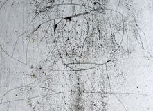 sprucken textur Slut upp gammalt badrum Arkivbild