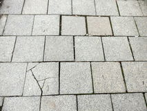 sprucken trottoar Royaltyfri Bild