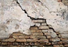 sprucken vägg Royaltyfri Fotografi