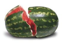 sprucken vattenmelon royaltyfri bild