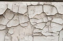 Sprucken vit målarfärgdetalj Arkivfoto