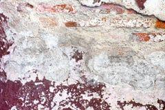Sprucket förfall målad betongväggtexturbakgrund, grungewa Royaltyfri Foto
