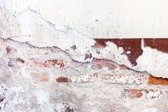 Sprucket förfall målad betongväggtexturbakgrund, grungewa Arkivbilder