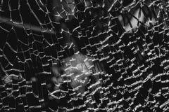 sprucket och brutet exponeringsglas Royaltyfri Fotografi