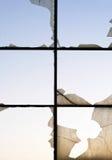 Spruckna fönster Royaltyfria Bilder