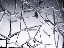 Spruckna stycken av genomskinligt exponeringsglas som ?r brutna eller royaltyfri illustrationer
