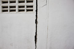 spruckna väggar Arkivfoton
