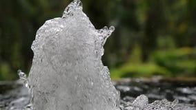Sprudelnder Brunnen stock video