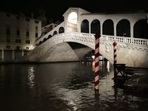 Spruit van Rialto-Brug Venetië royalty-vrije stock foto