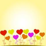 Spruiten in de vorm van harten Stock Afbeeldingen