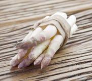 Spruiten van witte asperge stock fotografie