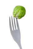 Spruitje op een vork Stock Afbeelding