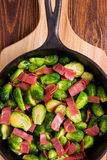 Spruitjes en Bacon Royalty-vrije Stock Afbeelding