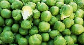Spruitjes, het organische plantaardige bestaan uit de kleine compacte knop van een verscheidenheid van kool royalty-vrije stock foto
