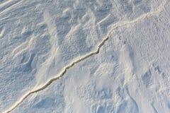 Sprung auf dem Schneefluß Stockfoto