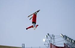 Sprung der chinesischen Athleten Kong Fanyu Stockfotografie